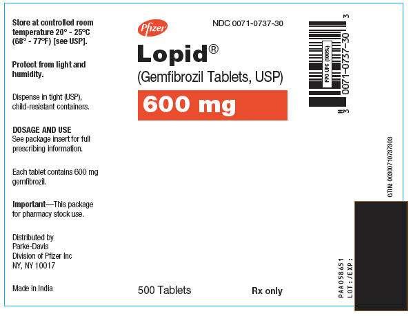 PRINCIPAL DISPLAY PANEL - 600 mg Tablet Bottle Label
